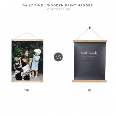 Artifact Uprising Wooden Print Hanger $79 vs. H&M Home Wooden Frame Mount $13, wood print holder look for less, copycatchic luxe living for less, budget home decor and design, daily finds, home trends, sales, budget travel and room redos