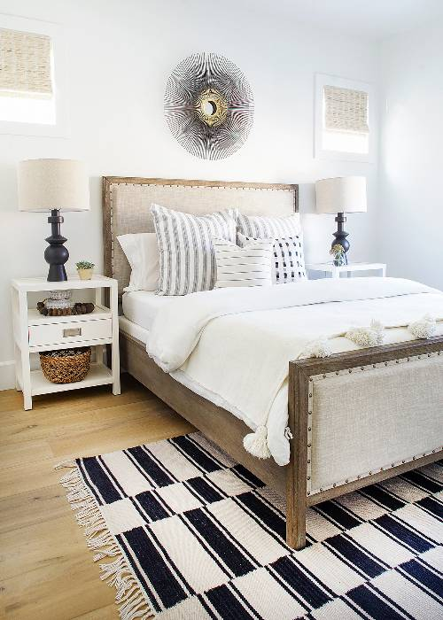 Pottery Barn Toulouse Wood Bed $1599 vs. Wayfair Burgundy Upholstered Panel Bed $620, wood upholstered bed look for less, copycatchic luxe living for less, budget home decor and design, daily finds, home trends, sales, budget travel and room redos