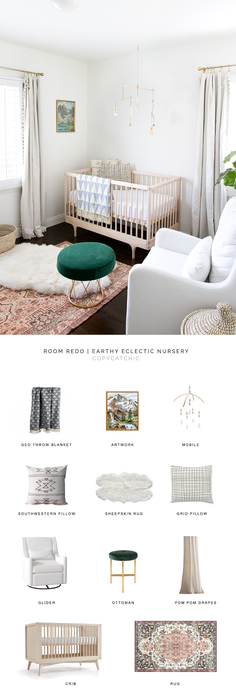 modern nursery look for less, copycatchic luxe living for less, budget home decor and design, daily finds, home trends, sales, budget travel and room redos