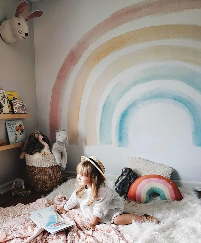 Anthropologie Rainbow Pillow $68 vs. H&M Rainbow Cushion $13, rainbow pillow look for less, copycatchic luxe living for less, budget home decor and design, daily finds, home trends, sales, budget travel and room redos