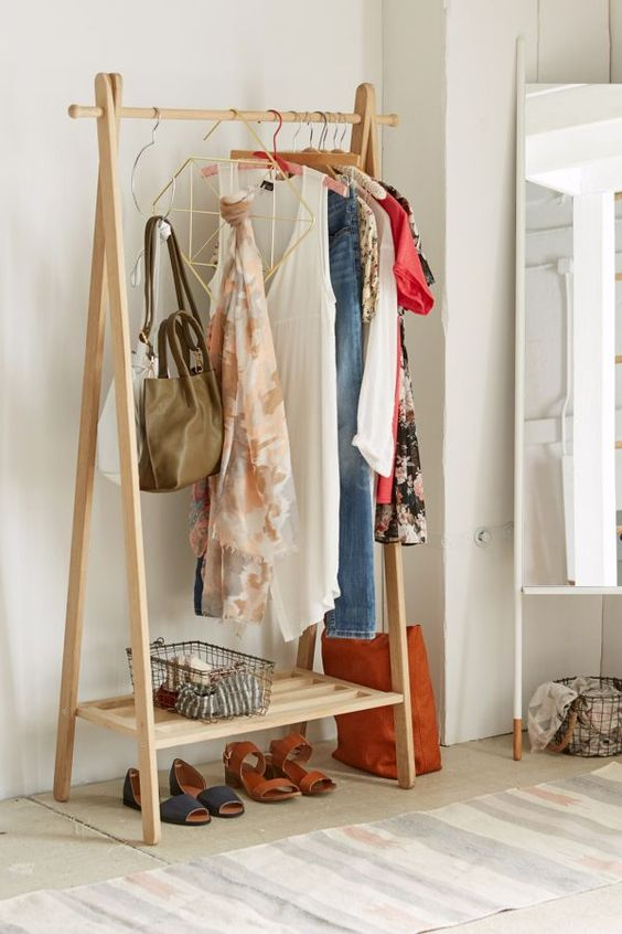 Urban Outfitters Wooden Clothing Rack $129 vs. Langria Foldable Bamboo Clothes Laundry Rack $50, wood clothing rack look for less, copycatchic luxe living for less, budget home decor and design, daily finds, home trends, sales, budget travel and room redos