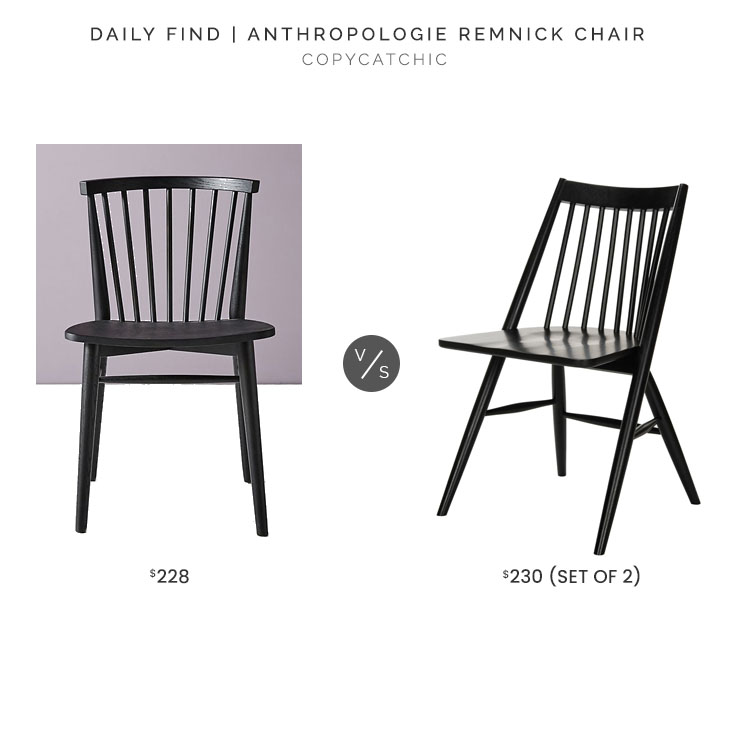 Anthropologie Remnick Chair $228 vs. Target Wren Spindle Dining Chair (set of 2) $230, black dining chair look for less, copycatchic luxe living for less, budget home decor and design, daily finds, home trends, sales, budget travel and room redos