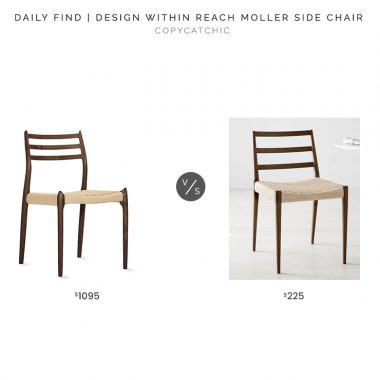 Design Within Reach Moller Model 78 Chair$1095 vs. West Elm Holland Dining Chair$225, mid century dining chair look for less, copycatchic luxe living for less, budget home decor and design, daily finds, home trends, sales, budget travel and room redos