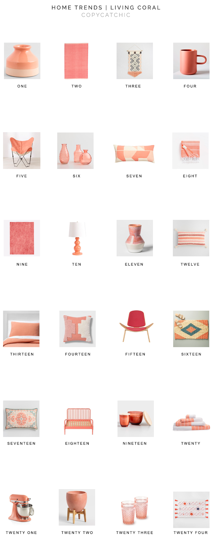 coral decor for less, pantone living coral, copycatchic luxe living for less, budget home decor and design, daily finds, home trends, sales, budget travel and room redos