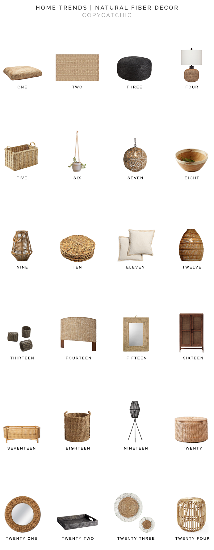 natural fiber decor for less, jute decor for less, sisal decor for less, bamboo decor for less, seagrass decor for less, rattan decor for less, cane decor for less, copycatchic luxe living for less, budget home decor and design, daily finds, home trends, sales, budget travel and room redos