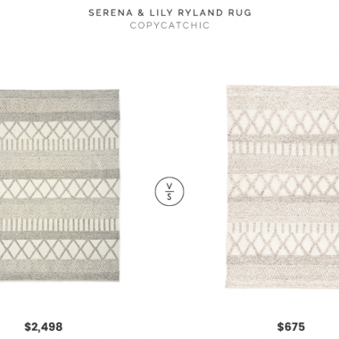 Serena & Lily Ryland Rug (8x10) $2,498 vs. Overstock Janson Handmade Geometric Area Rug (8x10) $675, textured rug look for less, copycatchic luxe living for less, budget home decor and design, daily finds, home trends, sales, budget travel and room redos