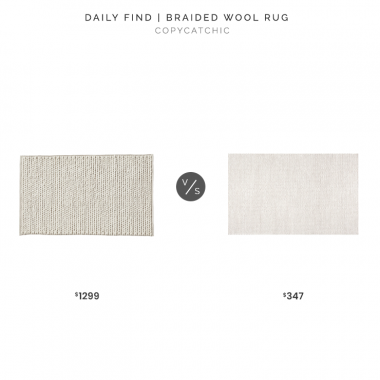 Parachute Braided Wool Rug $1299 vs. nuLOOM Handmade Casual Braided Wool Area Rug $347, braided wool rug look for less, copycatchic luxe living for less, budget home decor and design, daily finds, home trends, sales, budget travel and room redos