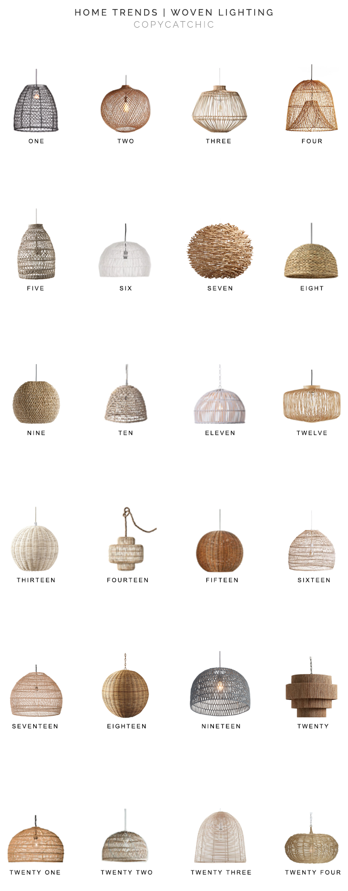Home Trends Woven Lighting Copycatchic