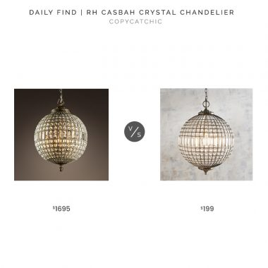 RH Casbah Crystal Chandelier $1695 vs. Pier 1 Crystal Sphere Pendant $199, crystal globe chandelier look for less, copycatchic luxe living for less, budget home decor and design, daily finds, home trends, sales, budget travel and room redos