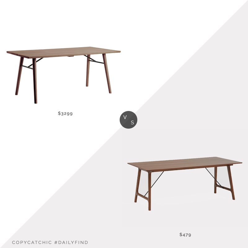 Horne Alley 205 Dining Table $3299 vs. Structube LENNA Walnut Veneer Dining Table $479, walnut dining table look for less, copycatchic luxe living for less, budget home decor and design, daily finds, home trends, sales, budget travel and room redos