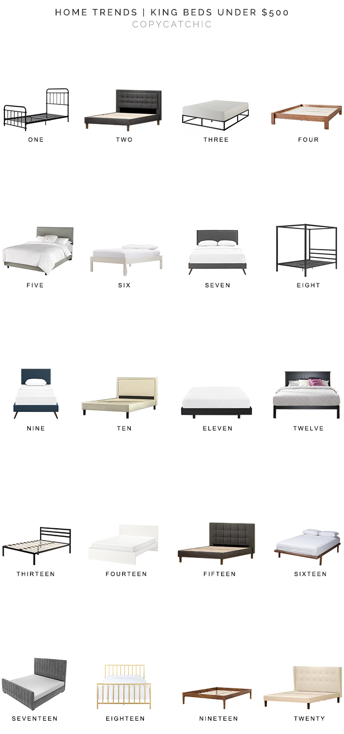 king beds under $500, king beds for less, king size beds, copycatchic luxe living for less, budget home decor and design, daily finds, home trends, sales, budget travel and room redos