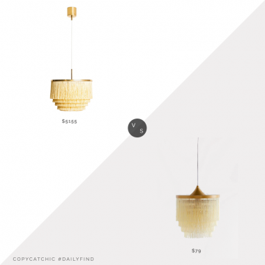 1st Dibs Hans-Agne Jakobsson Ceiling Lamp $5155 vs. Urban Outfitters Phoebe Tiered Fringe Pendant Light $79, fringe pendant light look for less, copycatchic luxe living for less, budget home decor and design, daily finds, home trends, sales, budget travel and room redos