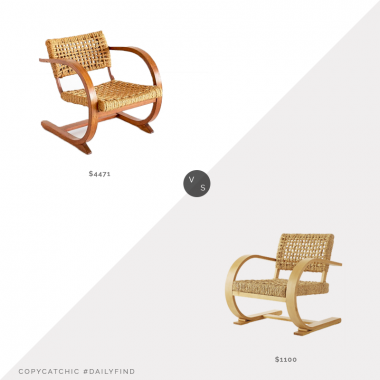 1st Dibs Bas Van Pelt Oak and Rope Armchair $4,471 vs. Wisteria French Modernist Armchair $1,100, contemporary chair look for less, copycatchic luxe living for less, budget home decor and design, daily finds, home trends, sales, budget travel and room redos