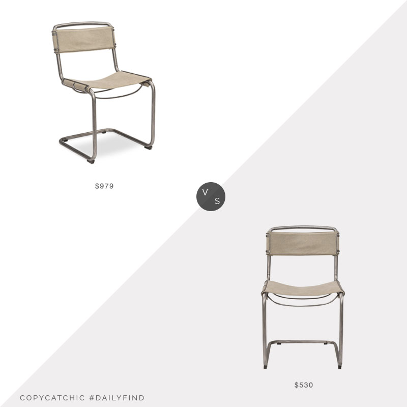 Paynes Gray Aviator Canvas Chair $979 vs. McGee & Co. Vincent Chair $530, canvas chair look for less, copycatchic luxe living for less, budget home decor and design, daily finds, home trends, sales, budget travel and room redos
