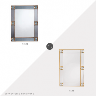 Perigold Arteriors Baldwin Mirror $2105 vs. Target ZM Home Modern Rectangle Lucite Mirror $180, arteriors mirror look for less, copycatchic luxe living for less, budget home decor and design, daily finds, home trends, sales, budget travel and room redos