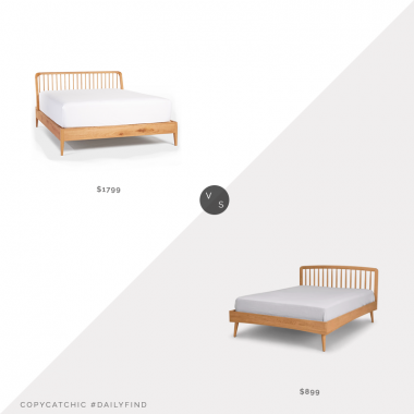 Rejuvenation Spindle Bed $1799 vs. Article Culla Spindle Oak Bed $899, oak spindle bed look for less, copycatchic luxe living for less, budget home decor and design, daily finds, home trends, sales, budget travel and room redos