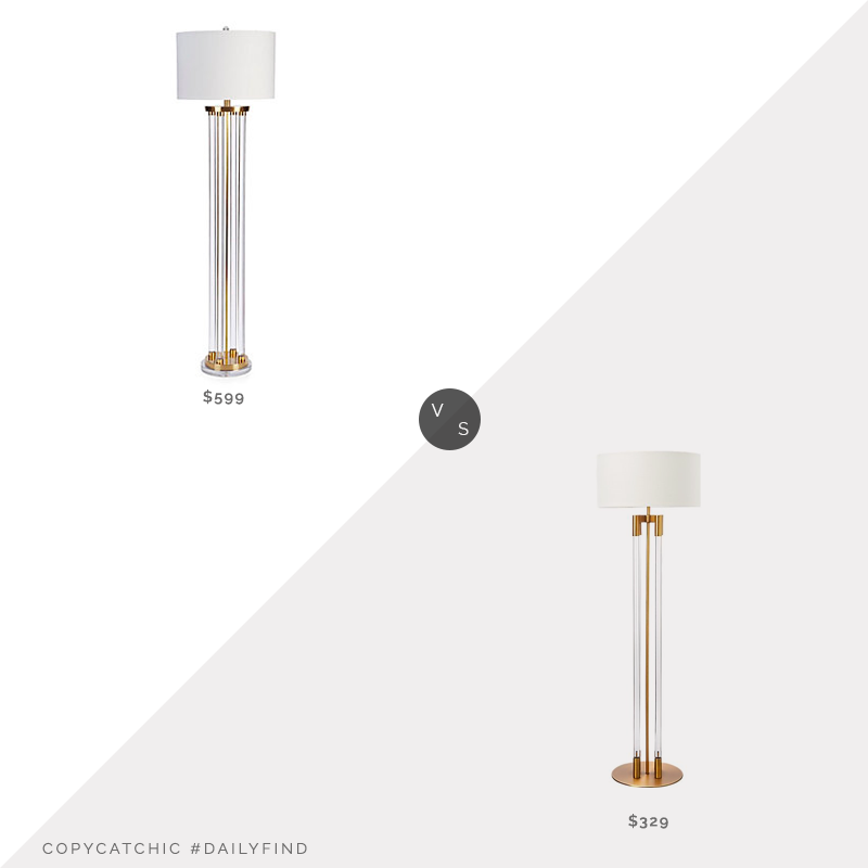 Z Gallerie Cyrus Floor Lamp $599 vs. CB2 Column Acrylic Floor Lamp $329, acrylic floor lamp look for less, copycatchic luxe living for less, budget home decor and design, daily finds, home trends, sales, budget travel and room redos