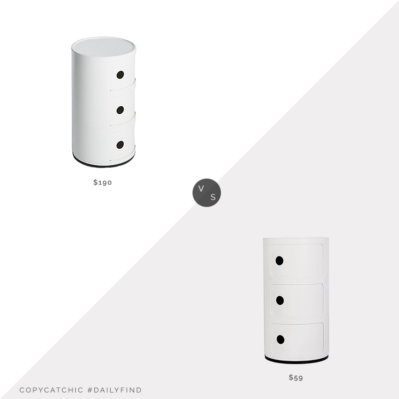 DWR Componibili Storage Unit $190 vs. France & Son Componibili $59, componibili look for less, copycatchic luxe living for less, budget home decor and design, daily finds, home trends, sales, budget travel and room redos