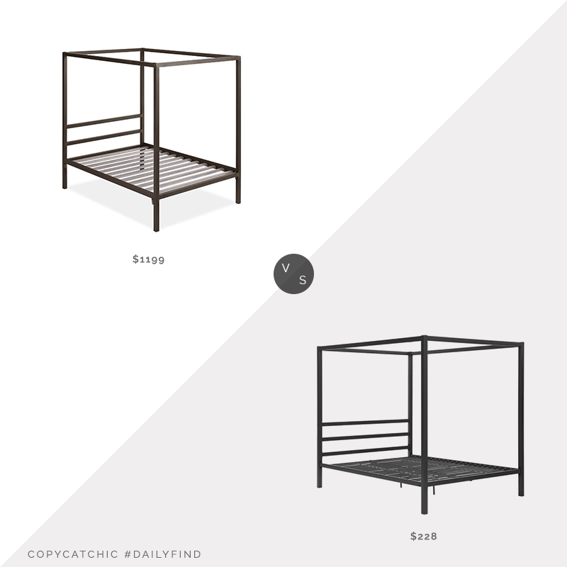 Room & Board Architecture Bed $1,199 vs. Wayfair Dubay Canopy Bed $228, metal canopy bed look for less, copycatchic luxe living for less, budget home decor and design, daily finds, home trends, sales, budget travel and room redos