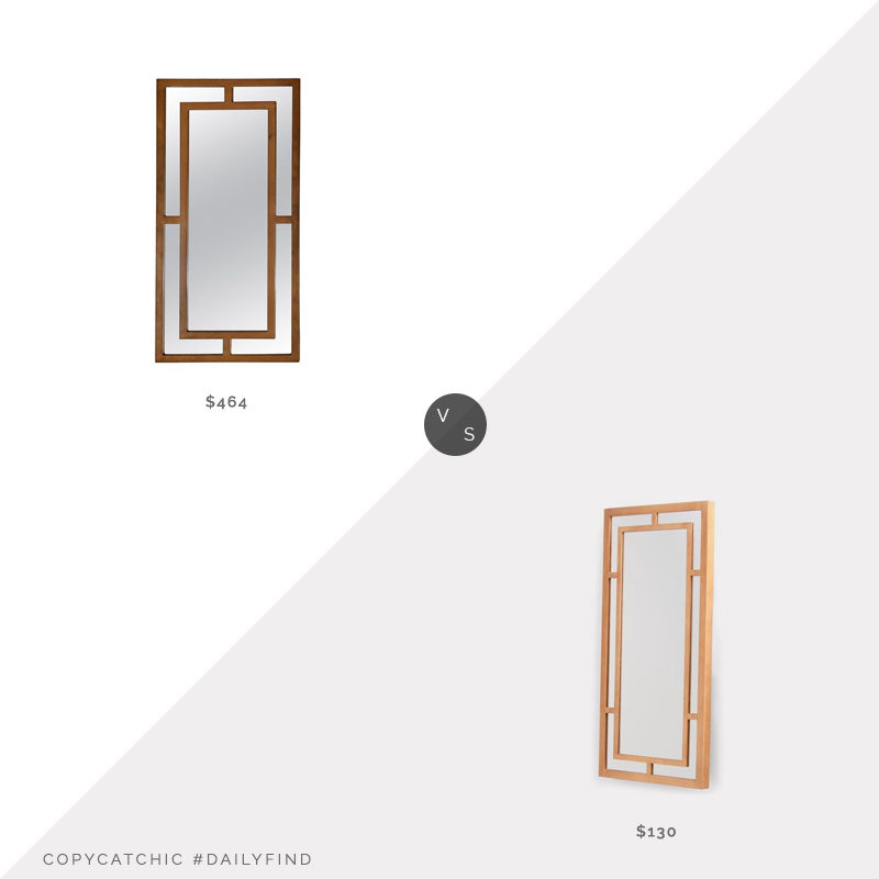 Daily Find: 1st Dibs France Mirror $464 vs. TJ Maxx Cooper Classics Benedict Mirror $130, gold mirror look for less, copycatchic luxe living for less, budget home decor and design, daily finds, home trends, sales, budget travel and room redos