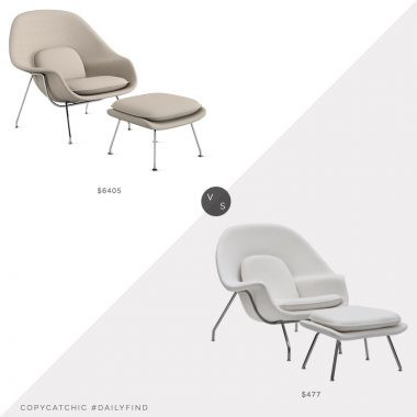 Daily Find: Design Within Reach Womb Chair$6405 vs. Home Thangs Haven Lounge Chair $477, womb chair look for less, copycatchic luxe living for less, budget home decor and design, daily finds, home trends, sales, budget travel and room redos
