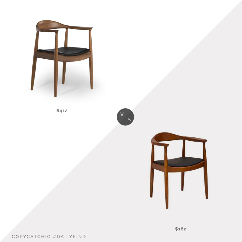 Daily Find: Inmod Hans Wegner Kennedy Armchair $412 vs. Amazon Baxton Studio Embick Dining Chair $162, wegner dining chair look for less, copycatchic luxe living for less, budget home decor and design, daily finds, home trends, sales, budget travel and room redos