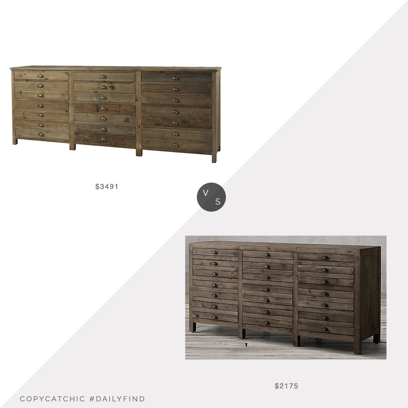 Amazon Padma's Plantation Salvaged Wood Sideboard $3491 vs. Restoration Hardware Printmakers Sideboard $2175, printmakers sideboard look for less, copycatchic luxe living for less, budget home decor and design, daily finds, home trends, sales, budget travel and room redos