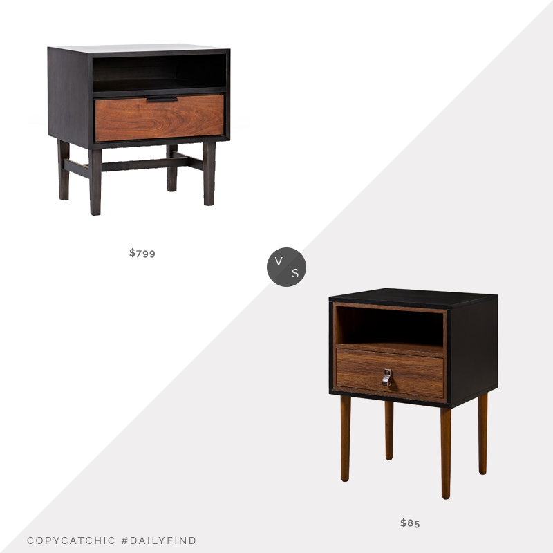 Daily Find: Rejuvenation Cascade Nightstand $999 vs. Walmart Versanora Reno Side Table $85, mid century nightstand look for less, copycatchic luxe living for less, budget home decor and design, daily finds, home trends, sales, budget travel and room redos