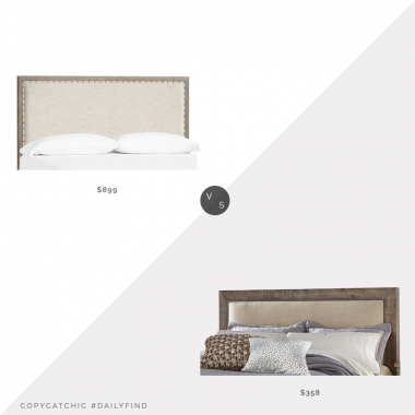 Pottery Barn Toulouse Headboard $899 vs. Hayneedle Willow Upholstered Headboard $358, wood upholstered headboard look for less, copycatchic luxe living for less, budget home decor and design, daily finds, home trends, sales, budget travel and room redos
