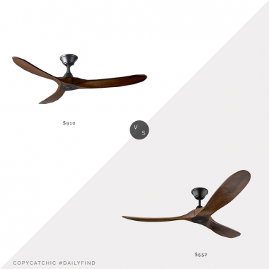 Restoration Hardware Maverick Ceiling Fan $910 vs. Build.com Monte Carlo Maverick Ceiling Fan $552, maverick ceiling fan look for less, copycatchic luxe living for less, budget home decor and design, daily finds, home trends, sales, budget travel and room redos
