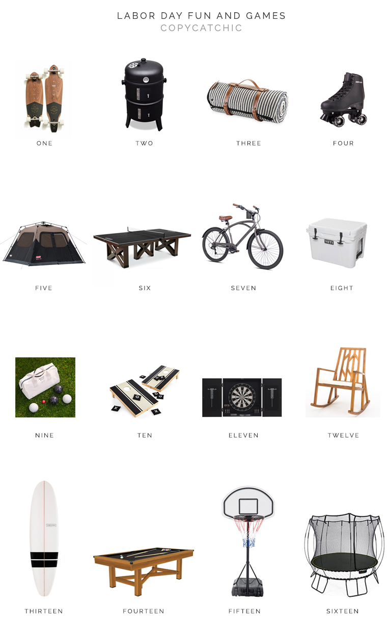 Modern chic minimalist outdoor sports and games with copycatchic | luxe living for less budget decor and home design, room redos and budget travel