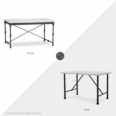 Daily Find: Crate and Barrel French Kitchen Table $1299 vs. Walmart Anders Dining Table $158, kitchen island look for less, copycatchic luxe living for less, budget home decor and design, daily finds, home trends, sales, budget travel and room redos