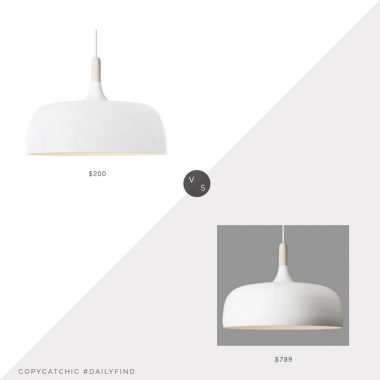 Daily Find: Northern Lighting Acorn Pendant $789 vs. Zest Lighting Replica Acorn Pendant $200, white light fixture look for less, copycatchic luxe living for less, budget home decor and design, daily finds, home trends, sales, budget travel and room redos