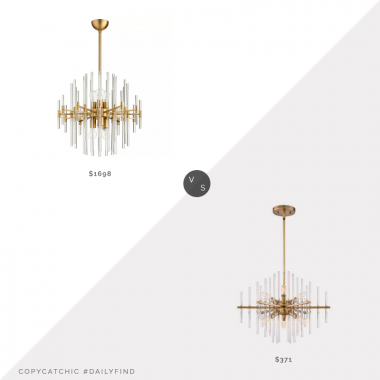 Daily Find: Wayfair Cyan Design Quebec 6-Light Chandeliervs. Bellacor Reeve Burnished Antique Brass 6-Light Chandelier, brass chandelier look for less, copycatchic luxe living for less, budget home decor and design, daily finds, home trends, sales, budget travel and room redos