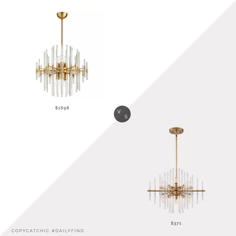 Daily Find: Wayfair Cyan Design Quebec 6-Light Chandelier vs. Bellacor Reeve Burnished Antique Brass 6-Light Chandelier, brass chandelier look for less, copycatchic luxe living for less, budget home decor and design, daily finds, home trends, sales, budget travel and room redos