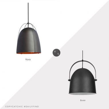 Daily Find | Rejuvenation Haleigh Dome Pendant oil rubbed bronze black dome pendant look for less copycatchic luxe living for less, budget home decor and design, daily finds, home trends, sales, budget travel and room redos