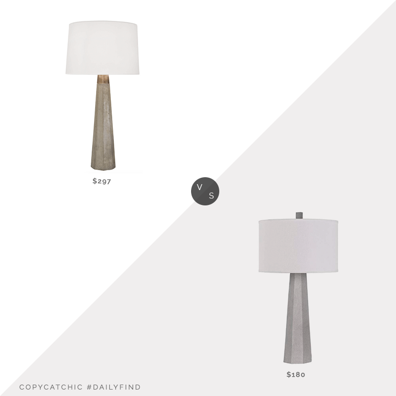 Daily Find: Shades of Light Concrete Column Table Lamp $297 vs. Target Sora Cement Table Lamp $180, concrete table lamp look for less, copycatchic luxe living for less, budget home decor and design, daily finds, home trends, sales, budget travel and room redos