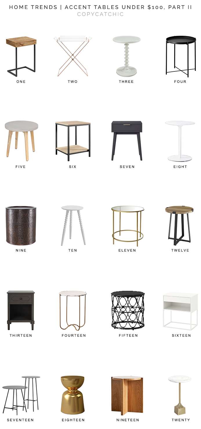 accent tables under $100, side tables under $100, copycatchic luxe living for less, budget home decor and design, daily finds, home trends, sales, budget travel and room redos