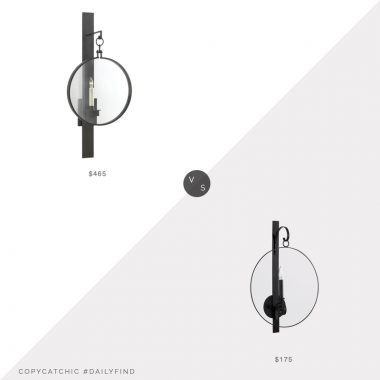 Circa Lighting Alice Sconce $465 vs. Ballard Designs Penelope Candle Wall Sconce $219, circle sconce look for less, copycatchic luxe living for less, budget home decor and design, daily finds, home trends, sales, budget travel and room redos