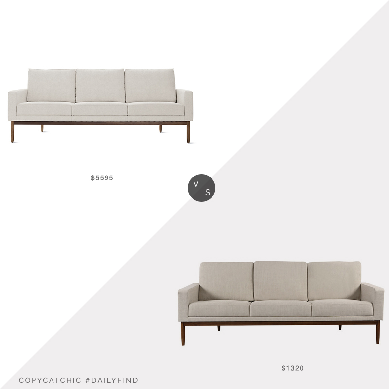 Design Within Reach Raleigh Sofa $5595 vs. Houzz Stilt Danish Mod Sofa $1320, dwr sofa look for less, copycatchic luxe living for less, budget home decor and design, daily finds, home trends, sales, budget travel and room redos