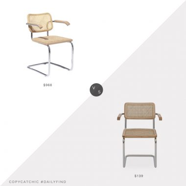 Daily Find: Knoll Cesca Chair vs. Scandinavian Designs Bendt Dining Chair, modern cane chair look for less, copycatchic luxe living for less, budget home decor and design, daily finds, home trends, sales, budget travel and room redos