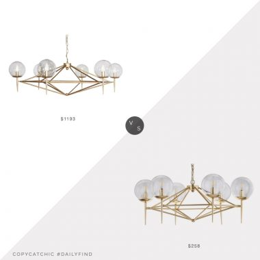 Daily find: Worlds Away Rowan Chandelier vs. Home Depot Greyor Chandelier, brass chandelier look for less, copycatchic luxe living for less, budget home decor and design, daily finds, home trends, sales, budget travel and room redos