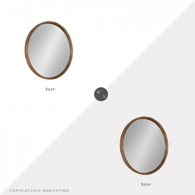 Daily find: Macy's Kate and Laurel Hutton Round Wood Wall Mirror vs. Amazon Kate and Laurel Hutton Round Wood Wall Mirror, round wood mirror look for less, copycatchic luxe living for less, budget home decor and design, daily finds, home trends, sales, budget travel and room redos