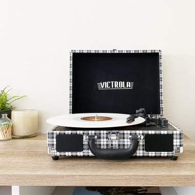 modern vinyl record collection hipster music accessories for everyone with Walmart and copycatchic | luxe living for less every day living on a budget | home trends, decor, looks for less, and designer rooms for less