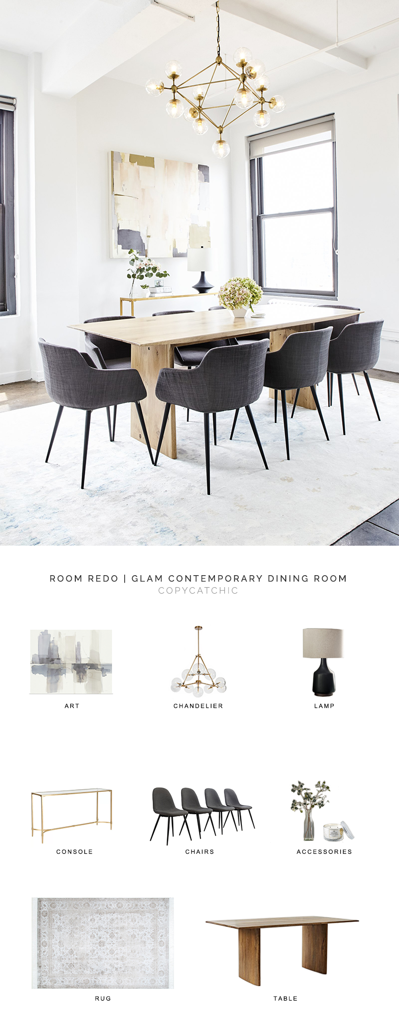 modern dining room look for less, copycatchic luxe living for less, budget home decor and design, daily finds, home trends, sales, budget travel and room redos