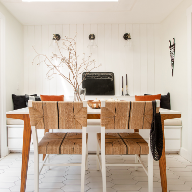 Updating my breakfast nook with vertical shiplap paneling from Metrie | copycatchic luxe living for less budget home decor and design | looks for less, room redos and living life on a budget