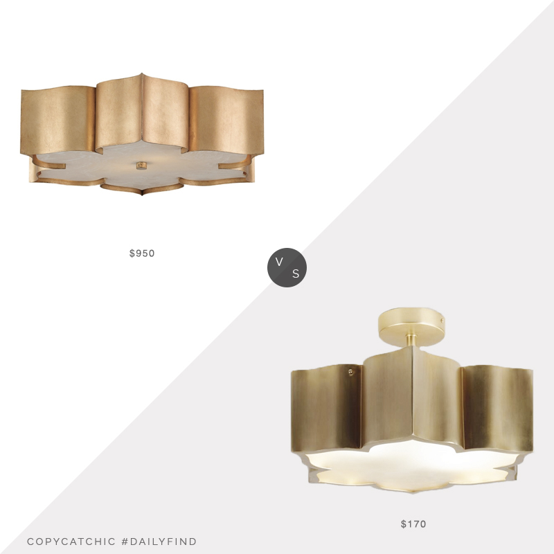 Daily Find: Currey and Company Grand Lotus vs. World Market Brass and Glass Lotus, lotus light look for less, copycatchic luxe living for less, budget home decor and design, daily finds, home trends, sales, budget travel and room redos