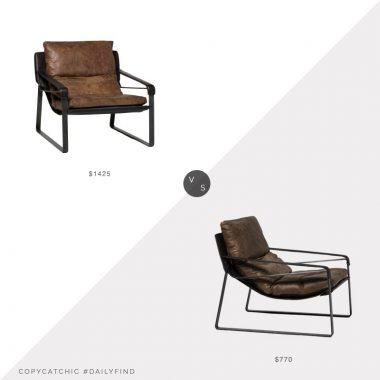 Daily Find: Build.com Moe's Home Connor Accent Chair vs. All Modern Dareau Lounge Chair, leather lounge chair look for less, copycatchic luxe living for less, budget home decor and design, daily finds, home trends, sales, budget travel and room redos