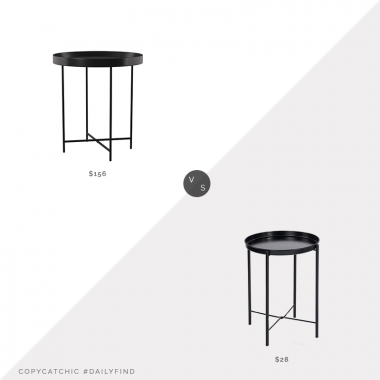 Daily Find: Wayfair Posner Tray Table vs. Walmart Metal Tray End Table, tray table look for less, copycatchic luxe living for less, budget home decor and design, daily finds, home trends, sales, budget travel and room redos