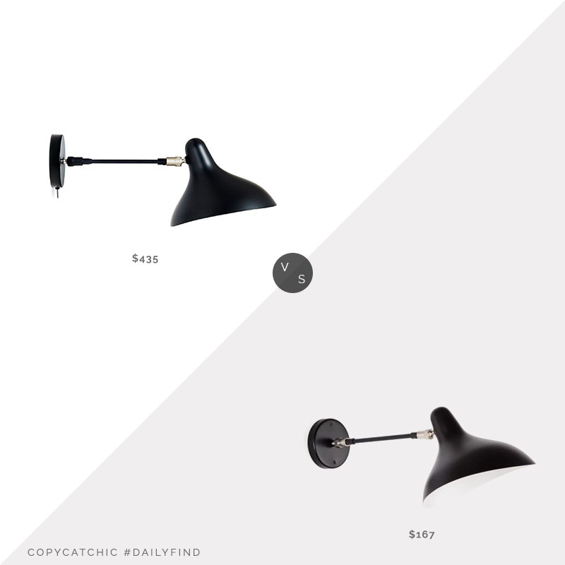 Daily Find: DWR Mantis BS5 SW Sconce $435 vs. Wayfair Julie 1-Light Wall Lamp $167, black sconce look for less, copycatchic luxe living for less, budget home decor and design, daily finds, home trends, sales, budget travel and room redos